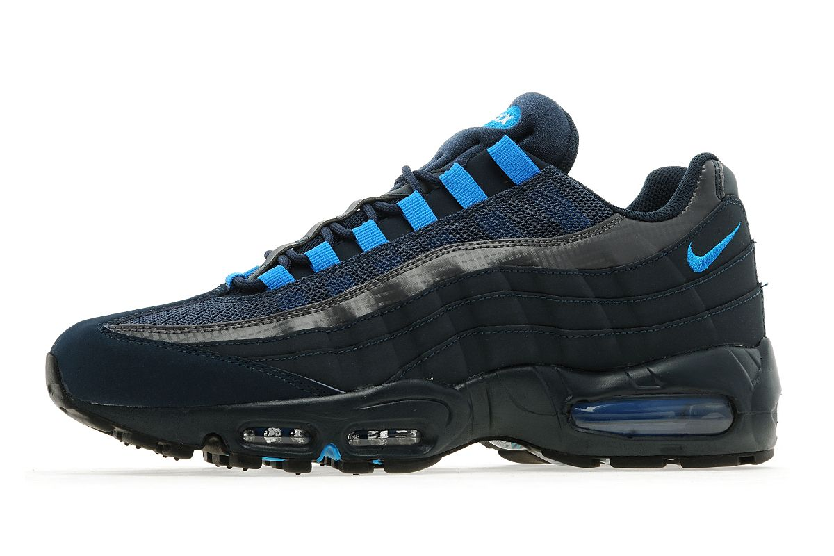 Nike Air Max 95 - Armory Navy/Blue. Nike Air Max 95 Essential South Beach Black Wolf Grey ...
