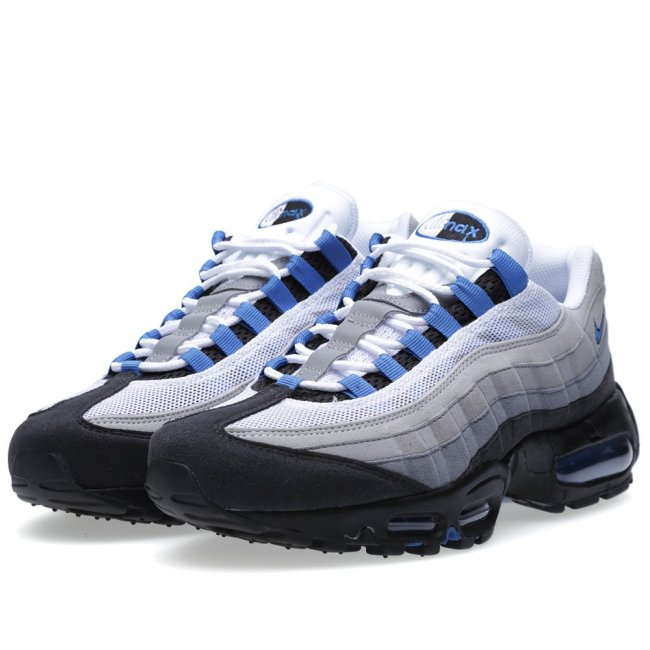 517b318dcf The possibility of a U.S. release remains unknown, but you can order these  from overseas at End Clothing. Nike Air Max 95. Color: White/Blue ...