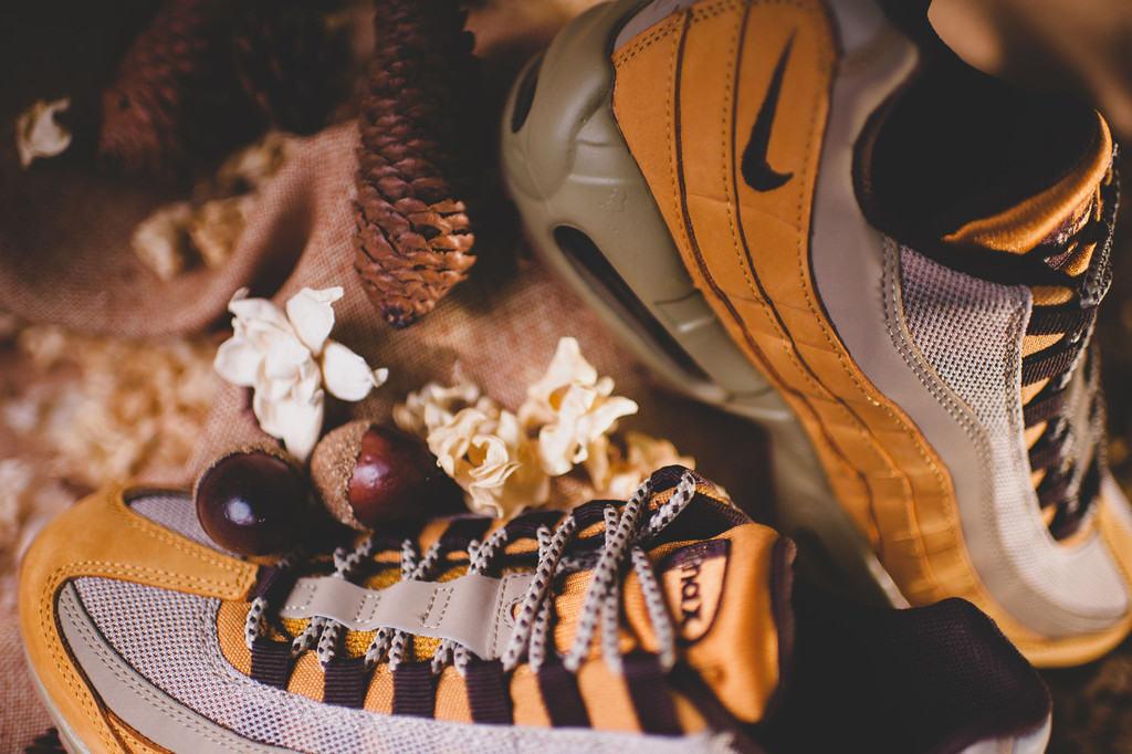 4f645c23c0 Click here to purchase the Nike Air Max 95 Wheat on eBay. Nike Air Max 95  PRM Color: Bronze/Baroque Brown-Bamboo