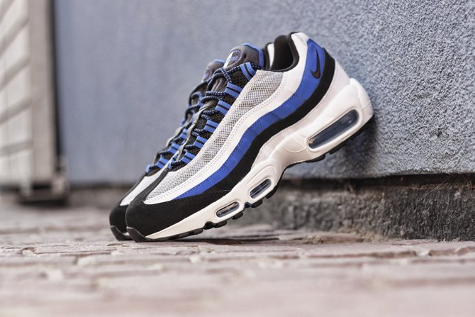 Nike Air Max 95. Color  Game Royal Black-White-Pure Platinum Style   749766-401 7ae2663dd