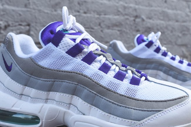 online retailer 68029 46d80 New Sz 7 Nike Air Max 95 Ultra White Grey Grape Purple Women s 749212-101