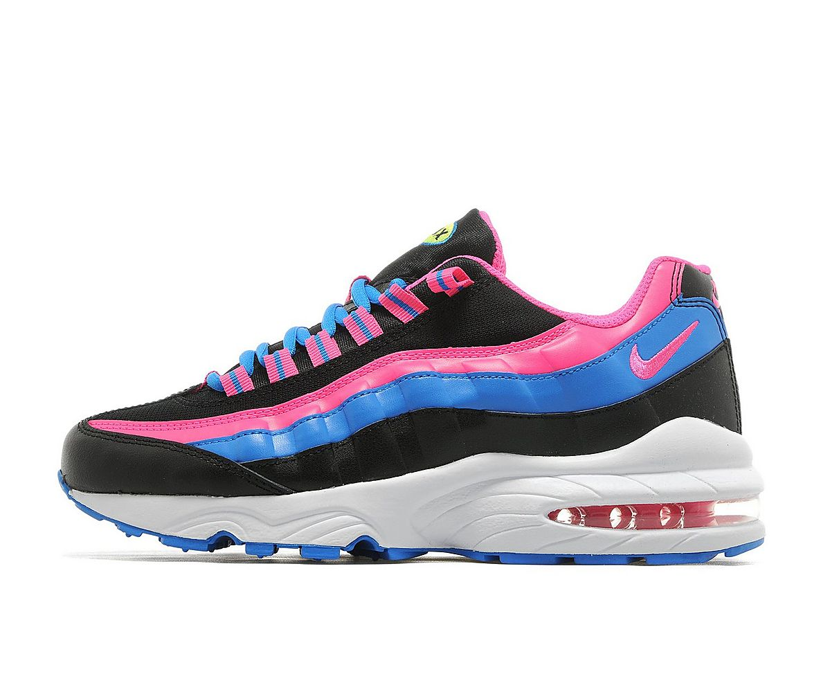351bcaa8bb Nike Air Max 95 Junior - Black / Pink-Blue - Air 23 - Air Jordan ...