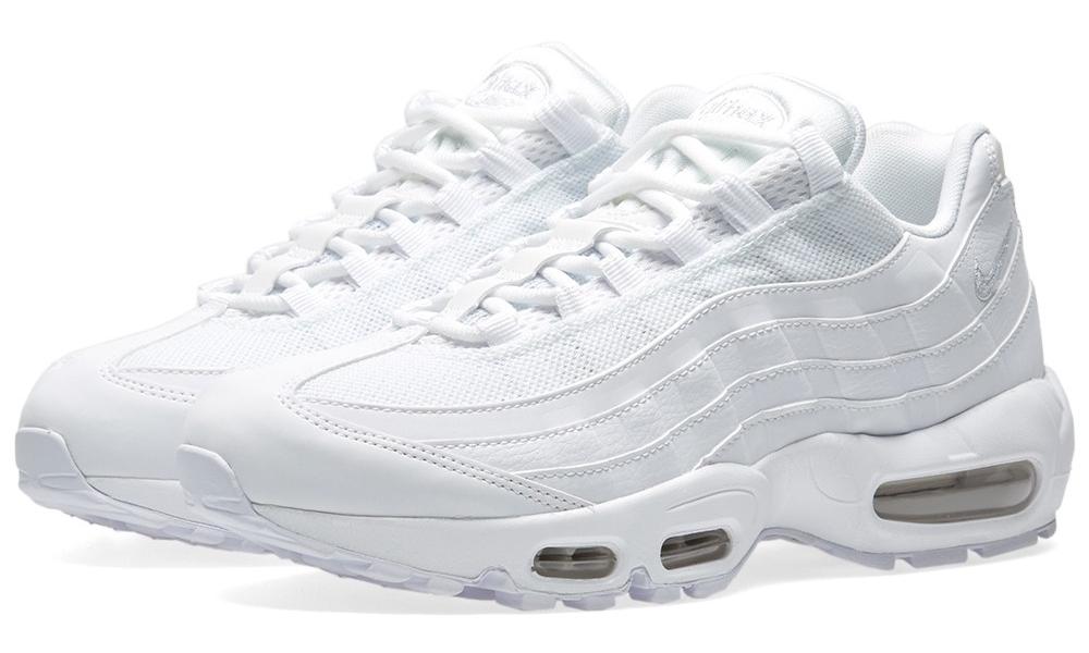 nike womens air max 95 triple white