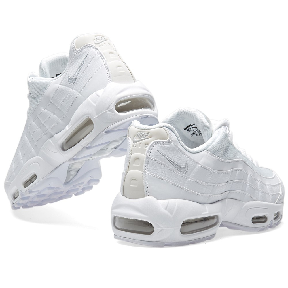 NIKE Air Max UPTEMPO 95 White Leather Basketball Shoes 1995  922935-100   Mens 14 89f5327a8