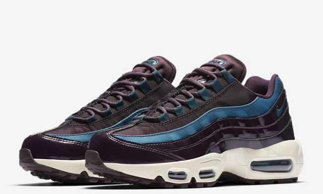 nike womens air max 95 nocturne collection port wine space blue 1med