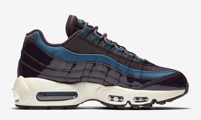 nike womens air max 95 nocturne collection port wine space blue 4med