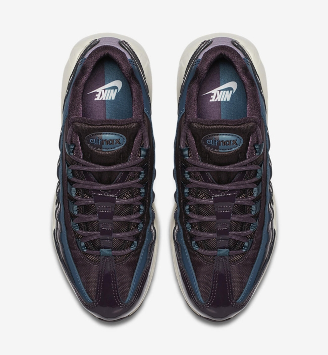 nike womens air max 95 nocturne collection port wine space blue 5med