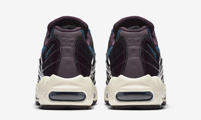 nike womens air max 95 nocturne collection port wine space blue 6med
