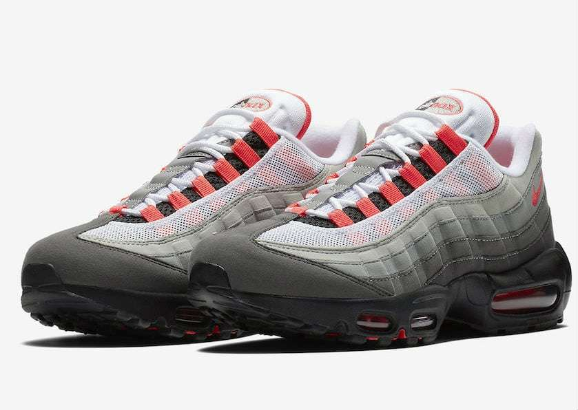 the latest f1ba2 afa6d Nike Air Max 95. Color  White Solar Red-Granite Dust Style  AT2865-100.  Release Date  07 19 2018. Price   160.00