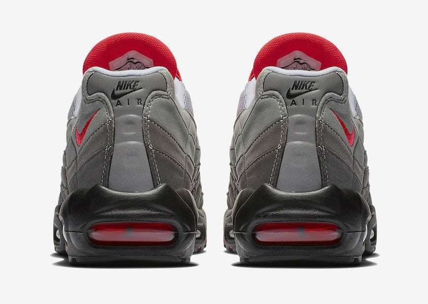 0cb25111d698 Nike Air Max 95. Color  White Solar Red-Granite Dust Style  AT2865-100. Release  Date  07 19 2018. Price   160.00