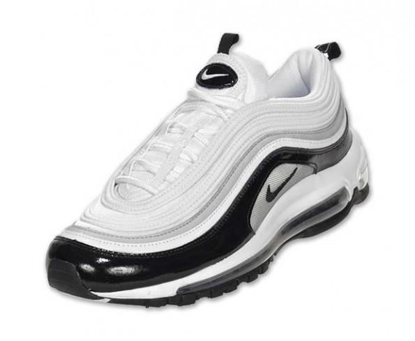 Nike Air Max 97 Premium Wolf Grey White Running Shoe Size 9.5 Style 312834 005