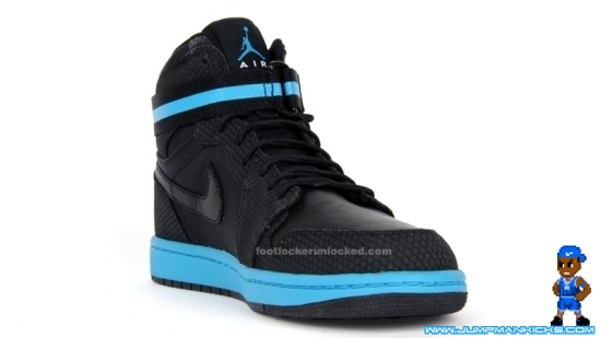 meet be126 c36f3 Air Jordan 1 Retro High Strap Black Orion-Blue Nylon New Pics
