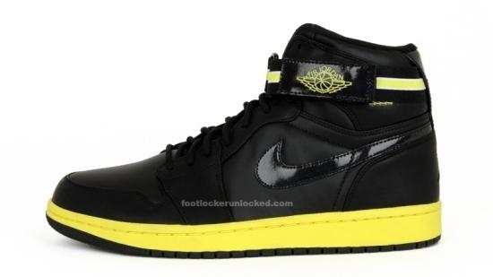 Air Jordan 1 Retro High Strap Black Volt Yellow  1533698e81f2