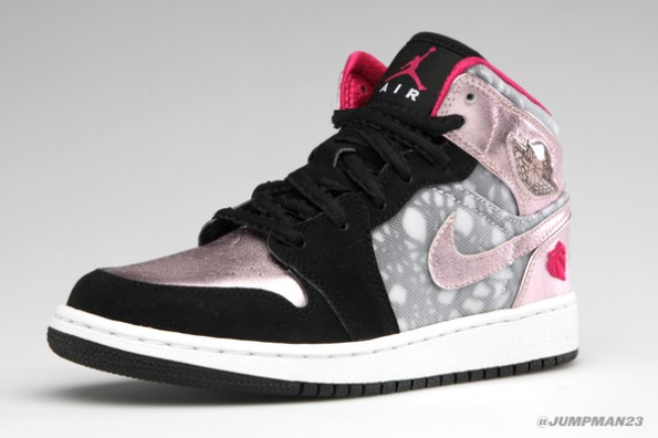 """buy popular e530e ca7b6 The Jumpman and sock liner have been done in desert pink. Near the heel  you ll find a familiar heart logo, which denotes these as a """"For the Love  of the ..."""