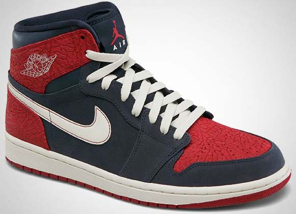 576095daf687 Air Jordan 1 Retro High Color  Obsidian Sail-Gym Red Style  332550-401.  Release  11 10 2012. Price   105.00