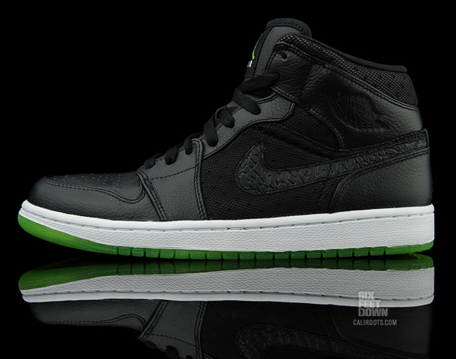 huge discount b8f18 30425 Air Jordan 1 Phat Color  Black Action Green-White Style  364770-007