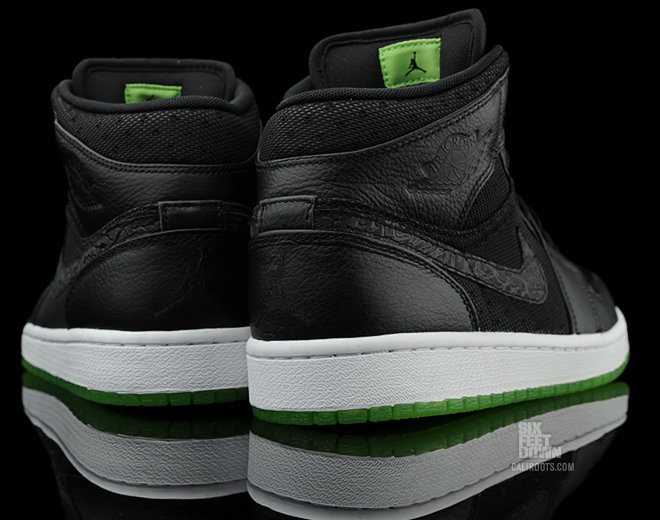 best sneakers 750a9 7d5e2 Air Jordan 1 Phat - Black/Action Green-White Available
