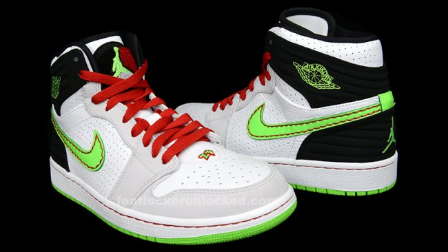 707c38f9263427 Air Jordan 1 Retro  93. Color  White Electric Green-Black-Neutral Grey  Style  580514-150. Price   130.00