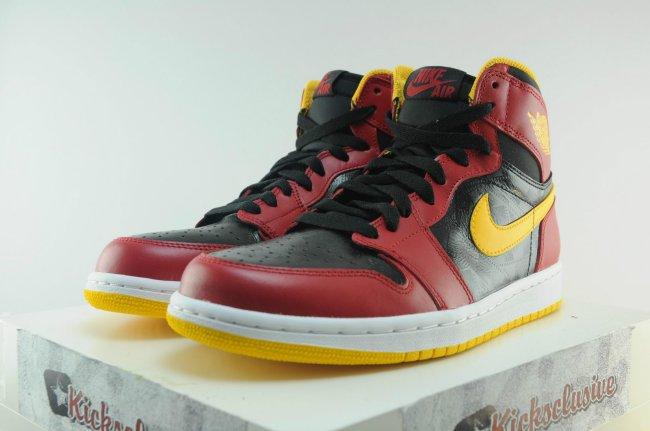 size 40 4b1b3 28186 Air Jordan 1 (I) Retro High OG Color  Black Gym Red-University Gold Style   555088-017. Release  09 07 2013. Price   140.00