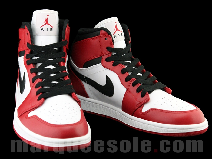Air Jordan 1 (I) High Retro Color  White Varsity Red-Black Style   322550-163. Release  01    2013 7b9c8fd171