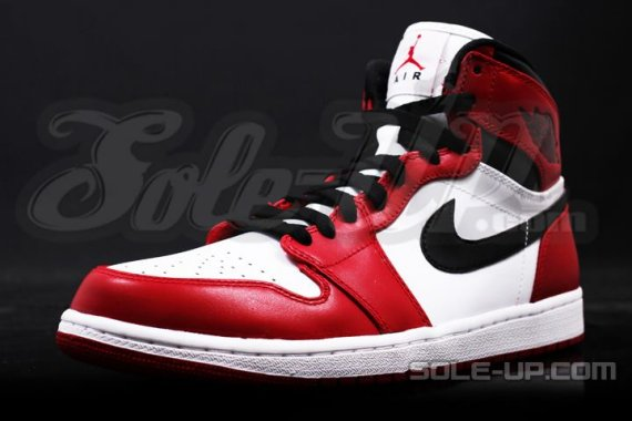 huge discount 0a585 22805 ... Red Air Jordan 1 Retro. This pair stays true to the original with a  full high-cut sole, all leather upper, and matching black laces.