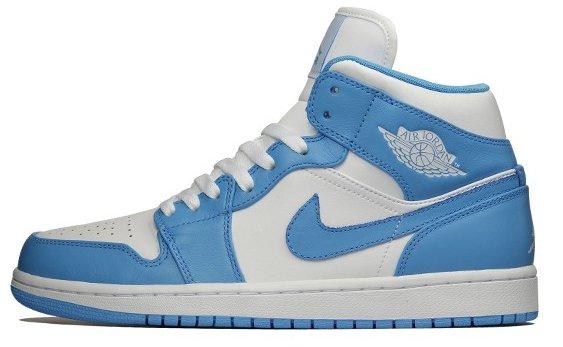 30ef984b341d73 Air Jordan 1 (I) Retro Mid Color  White University Blue-White Style   554724-106. Release  02    2012. Price   105.00