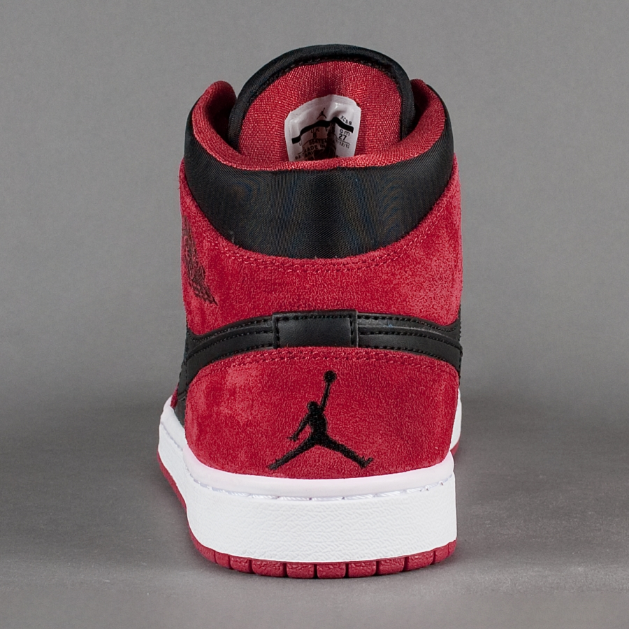 817eb3866d8e09 Air Jordan 1 (I) Mid Color  Black Gym Red Style  554724-005. Release         2014