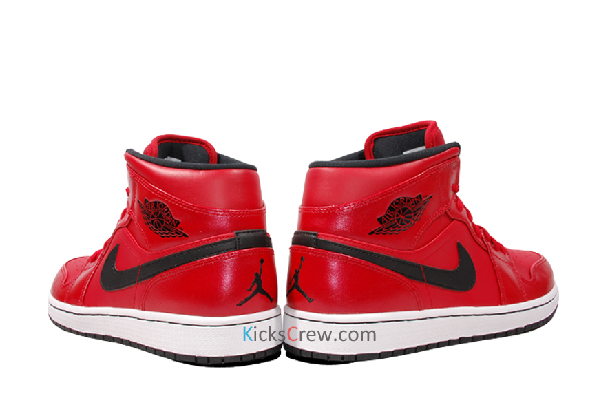 official photos 5a542 040e8 NIKE AIR JORDAN 1 MID BLACK GYM RED WHITE 554724-020 Men Shoes Chicago  Bulls NEW