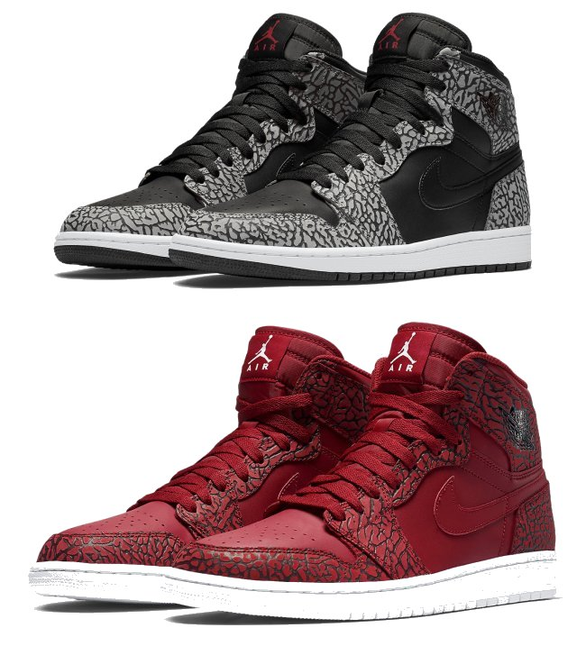 air jordan 1 elephant print pack