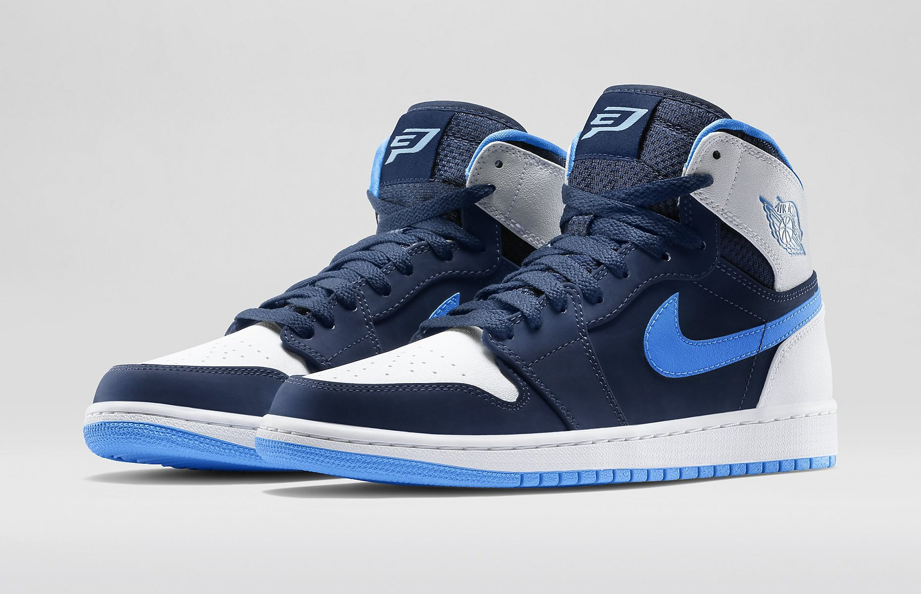 Air Jordan 1 Retro High Color Midnight Navy/White/University Blue Style 332550 402