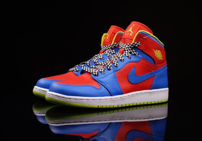 newest 2ea71 d0282 Air Jordan 1 Retro High GS Color  Chilling Red Cyber-Photo Blue Style   705300-615. Release  03    2015. Price   95.00