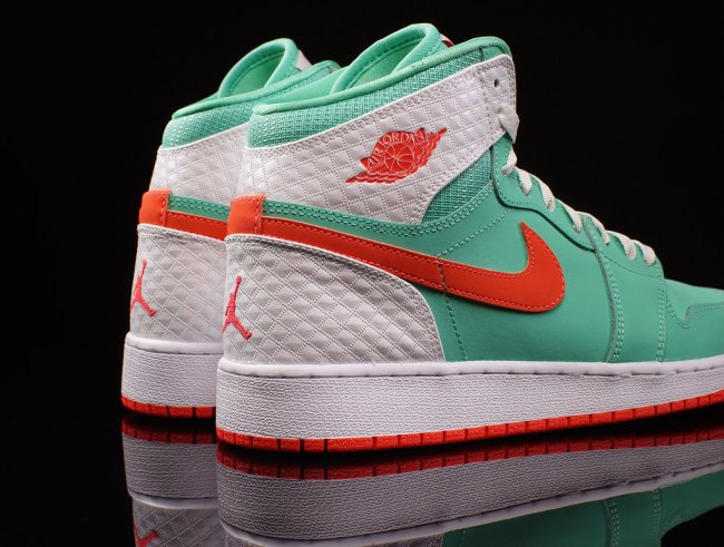 low priced b993a ea4c8 Air Jordan 1 (I) Retro High GS Color  Verde Infrared-White Style  332148-329