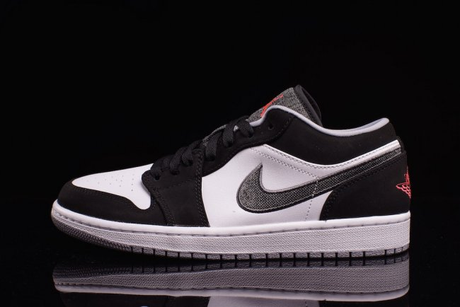3e6f9a5e459e27 Air Jordan 1 Low Color  Black Infrared 23-White-Wolf Grey Style  553558-029