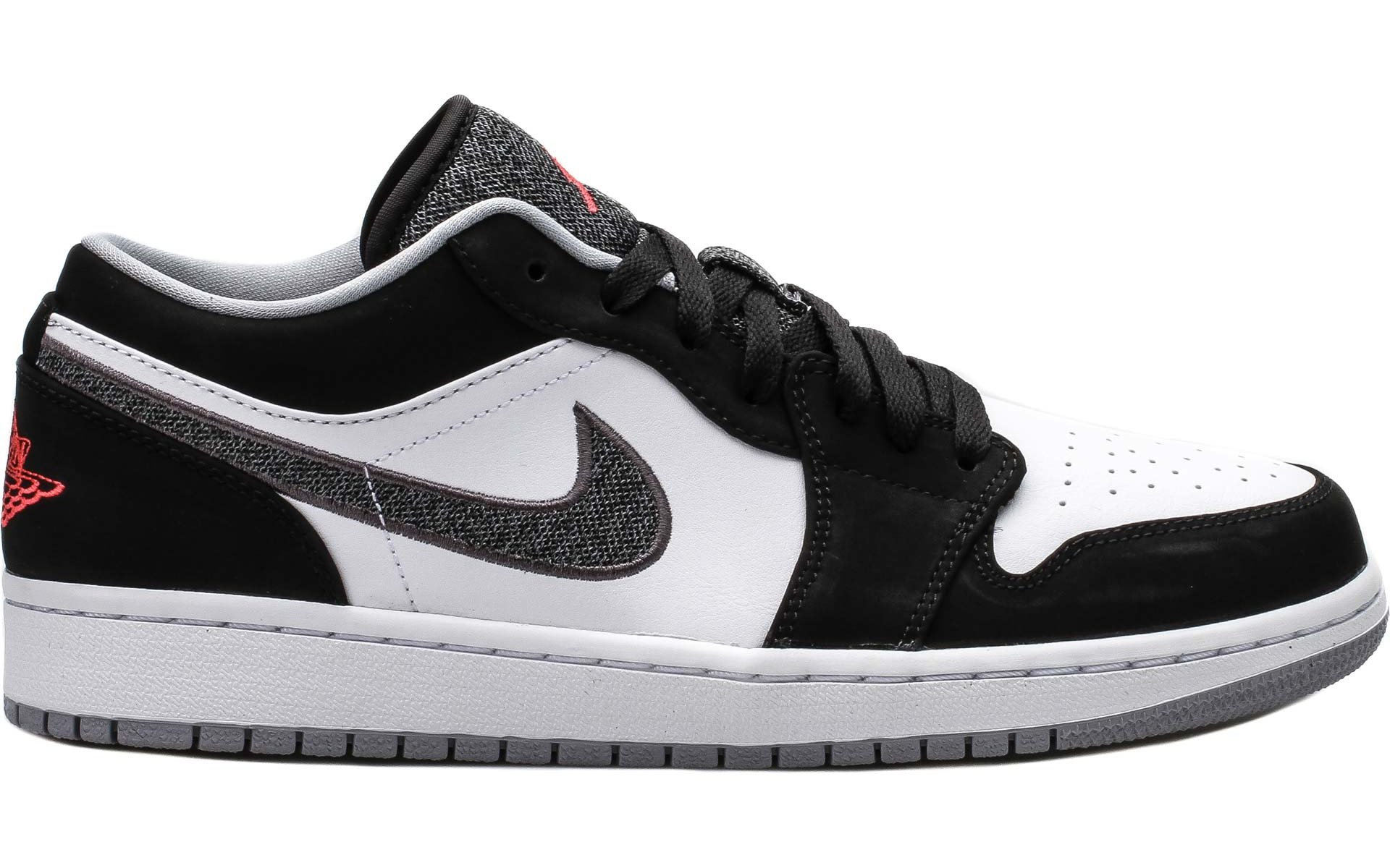 Air Jordan 1 Low Lifestyle \u2013 Black / Infrared 23-White-Grey | Sneaker Press