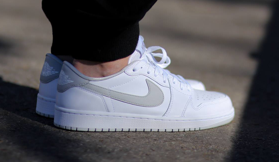air jordan 1 low og white grey