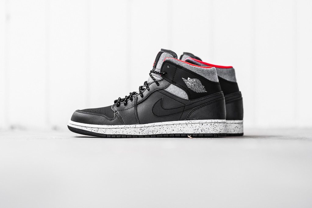Air Jordan 1 Mid Color  Black Dark Grey-Light Bone-Infrared 23. Price    120.00 f07f30c8f