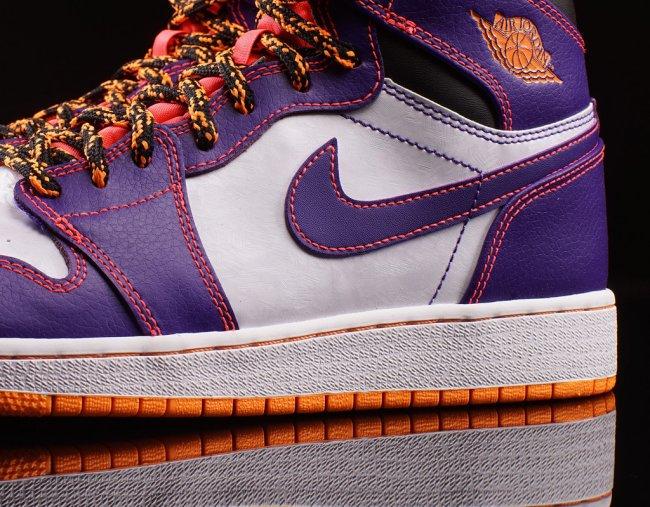2ac2db242787 Air Jordan 1 High GS Color  Court Purple Bright Crimson-White-Bright Citrus  Style  705300-507. Release  05 02 2015. Price   95.00