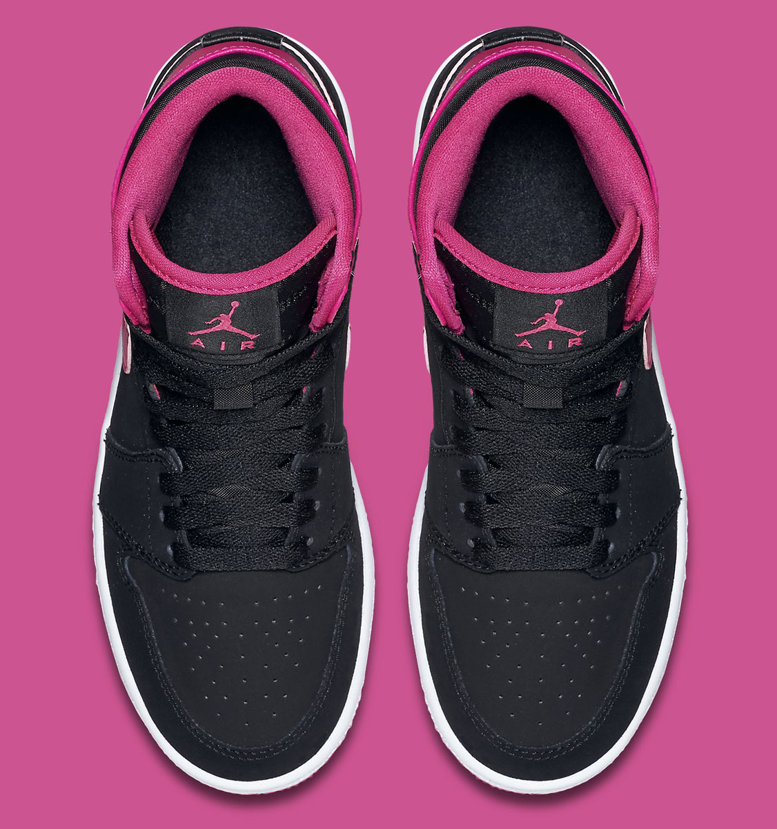 656e2968eabb Air Jordan 1 High GS Black   Vivid Pink - Air 23 - Air Jordan Release  Dates
