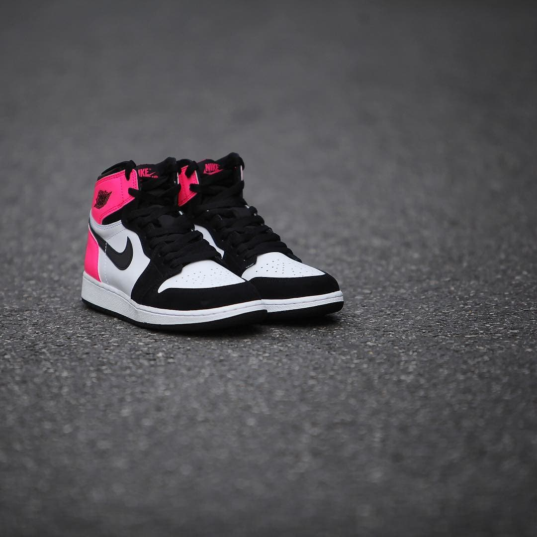 979d20f430bc Air Jordan 1 OG GS Color  Black Black-Hyper Pink-White Style  881426-009.  Release Date  02 11 2017. Price   120.00. air jordan 1 valentines day 2017
