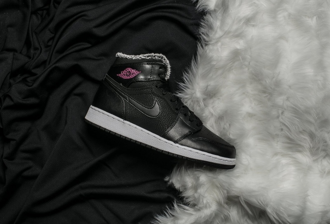 air jordan 1 fleece deadly pink