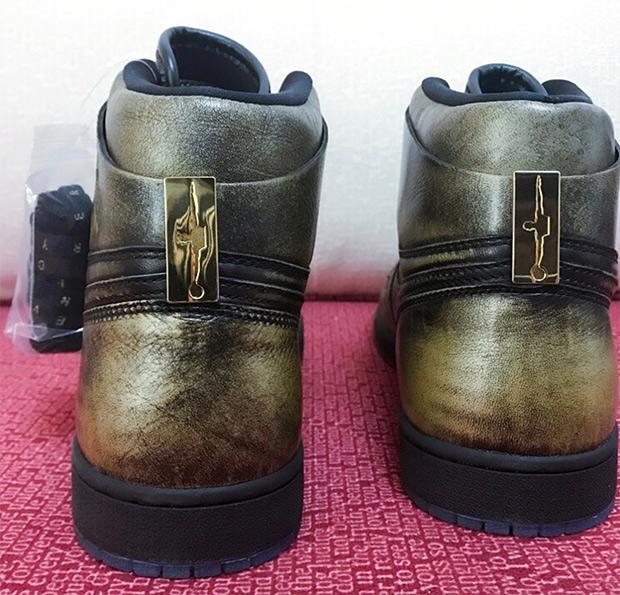 ad3207b967992d New Nike Air Jordan 1 High OG Retro Wings Metallic Gold Black AA2887-035 sz  10
