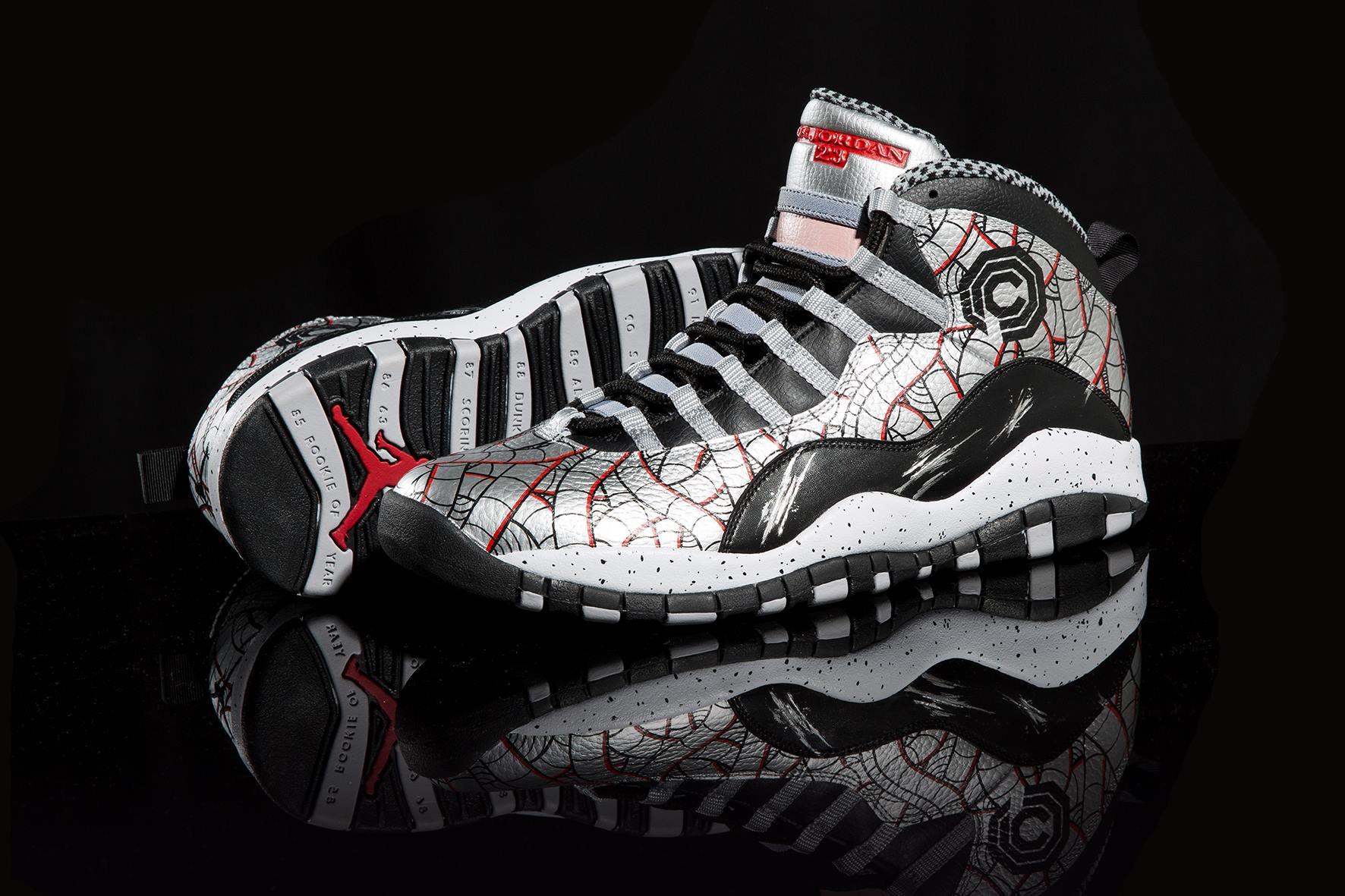 """Air Jordan X (10) Retro """"RoboCop"""" Customs by Sekure D 60008be7d"""