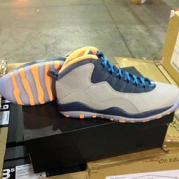 huge discount 47dc0 20039 Air Jordan 10 (X) Retro Color  Wolf Grey Dark Powder Blue-New Slate-Atomic  Orange Style  310805-026. Release  01 11 2014. Price   170.00