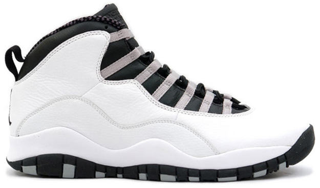 huge selection of 137f2 cd174 Air Jordan 10 (X) Retro Color  White Black-Light Steel Grey Style  310805-103.  Release  10 12 2013. Price   160.00