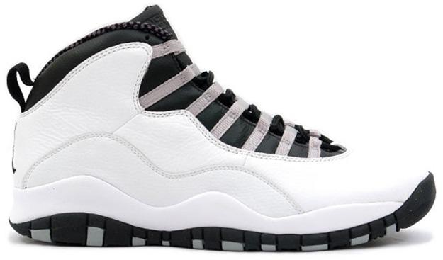 Air Jordan 10 (X) Retro Color  White Black-Light Steel Grey Style   310805-103. Release  10 12 2013. Price   160.00 7e4b031ef