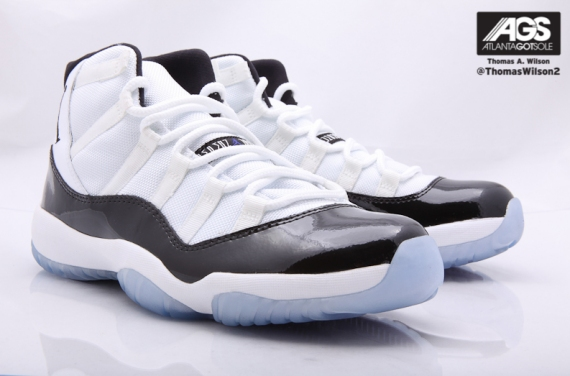 05cb27e69da Air Jordan 11 (XI) Retro Color  White Black-Dark Concord Style  378037-107.  Release  12 23 2011. Price   180.00