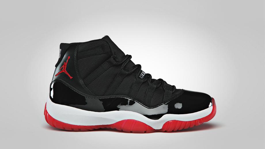 jordan 11 red and black