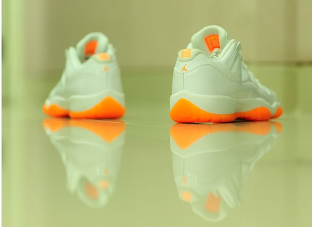 brand new 5ef2b 855de NIKE AIR JORDAN RETRO 11 XI Low GG GS Citrus – ALL SIZES – 580521-139