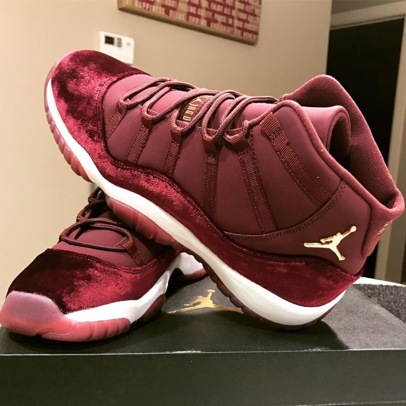 fea412a9e0e Air Jordan 11 Velvet Night Maroon - Images, Release Date - Air 23 ...