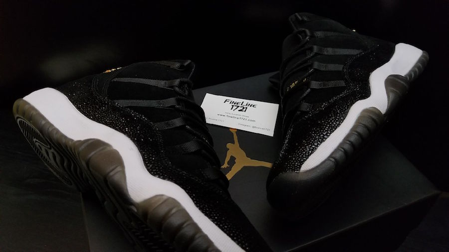 buy popular c00e2 12e48 Air Jordan 11 (XI) PRM Heiress Color  Black Metallic Gold-White Style Code   852625-030. Release Date  11 24 2017. Price   220.00